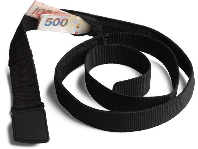Pacsafe Cashsafe Pasek z ukrytym portfelem, czarny